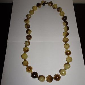 Vintage Lucite Ball Beaded Necklace
